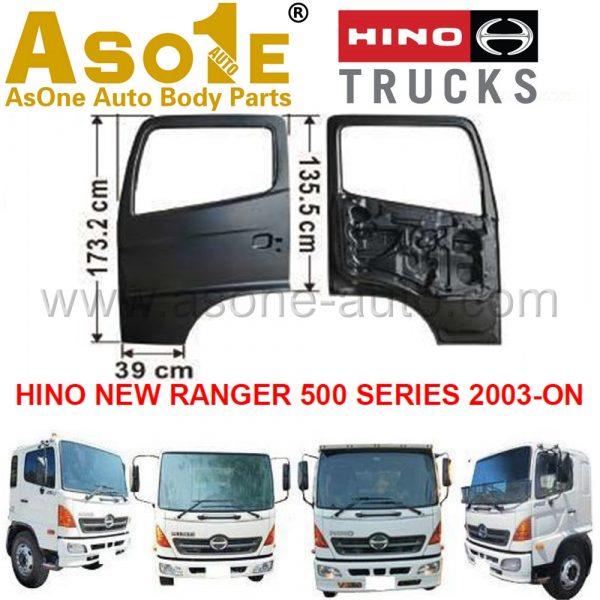 AO-HN03-102 DOOR SHELL FOR HINO NEW RANGER 500 SERIES 2003-ON