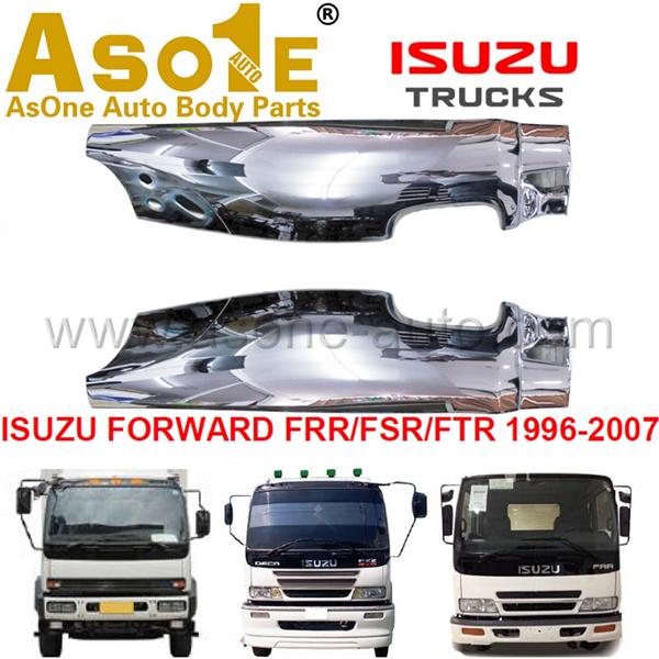 AO-IZ10-409 CORNER PANEL CHROMED FOR ISUZU FORWARD FRR FSR FTR 1996-2007