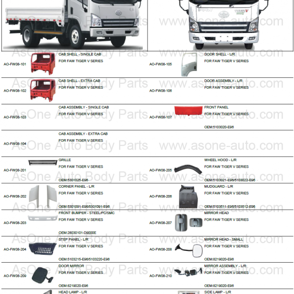 Chinese-truck-body-parts-for-faw-light-duty-truck-tiger-v-series